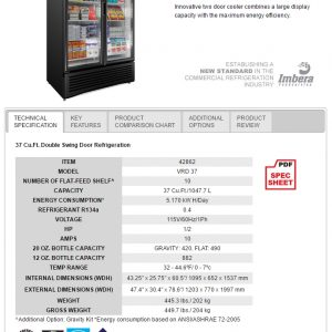 galaxy food equipment_2 door cooler (Item 42862)