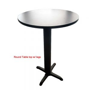 round table top with legs